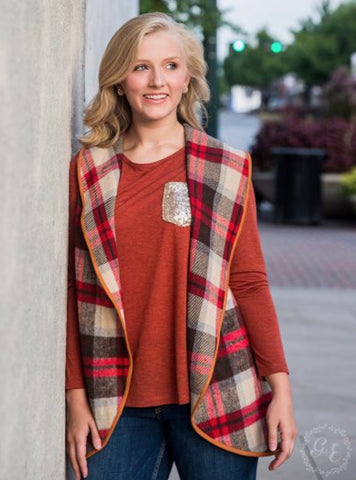 Cozy Plaid Vest
