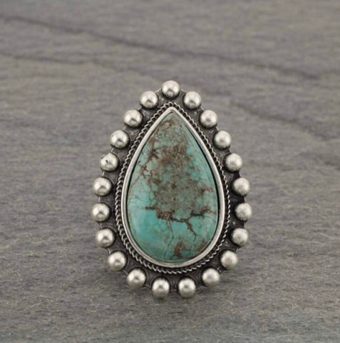 Turquoise Natural Stone Ring