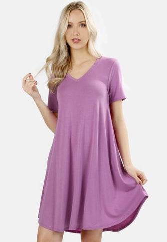 Mauve T shirt Dress