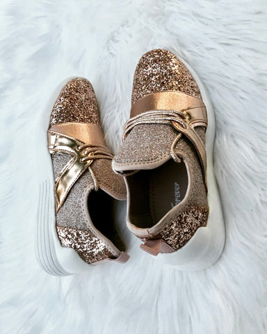 Perfection Glitter Tennis Shoes