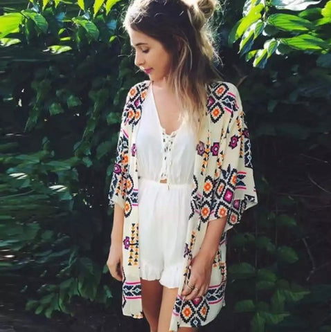 DEAL OF THE DAY!! Ivory Aztec Kimono (Pre Order)