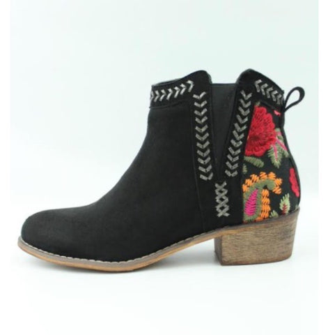 The Embroidered Bootie