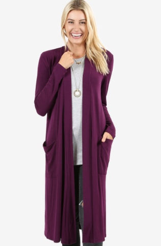 🔥🔥DEAL OF THE DAY🔥🔥Plum Keeping It Simple Long Cardigan