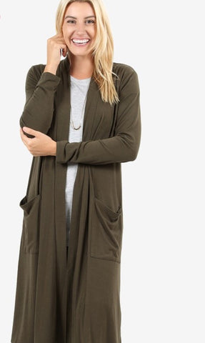 🔥🔥DEAL OF THE DAY🔥🔥Olive Keeping It Simple Long Cardigan