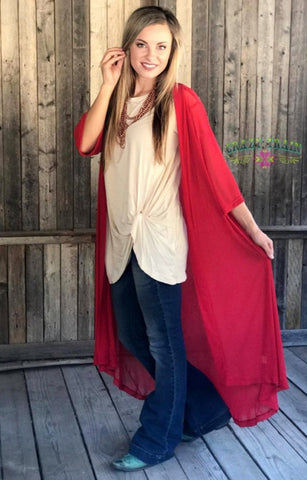 Candy Apple Red Rodeo Duster