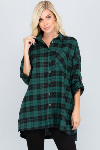 Hunter Green Plaid Tunic