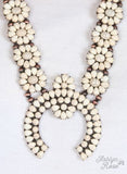 White Floral Squash Blossom Necklace