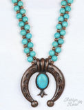 Two Steppin' Squash Blossom Necklace
