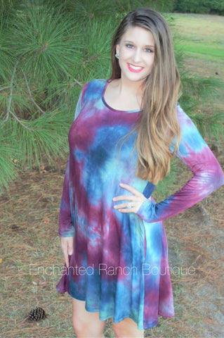 Mixed Emotions Tie Dye Dress