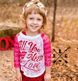 Kids All You Need Is Love Raglan