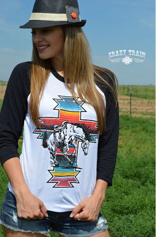 Serape War Paint Tee