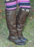 Two Toned Brown Riding Boots