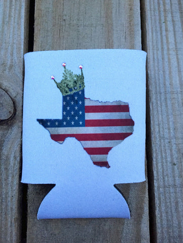 Texas USA Koozie