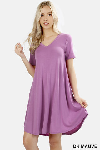 DEAL OF THE DAY!! T shirt Dress  (4 Colors)