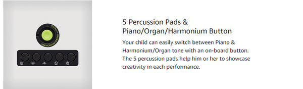 5 Buttons to Percussions