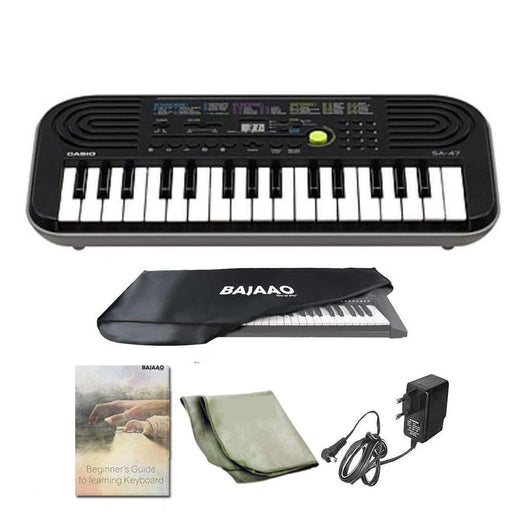 Casio SA 47 Mini Portable Keyboard With Power Adapter, Polishing Cloth, Dust Cover, Warranty & Ebook