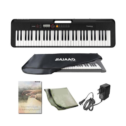 Casio Casiotone CT S200 61 Key Portable Keyboard with Adapter, Polishing Cloth, Dust Cover, Online Lessons, Warranty & Ebook