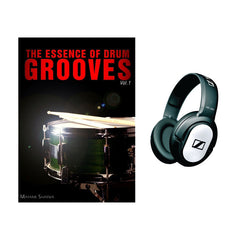 Sennheiser HD180 On Ear Headphones + The Essence of Drum Grooves Vol. 1