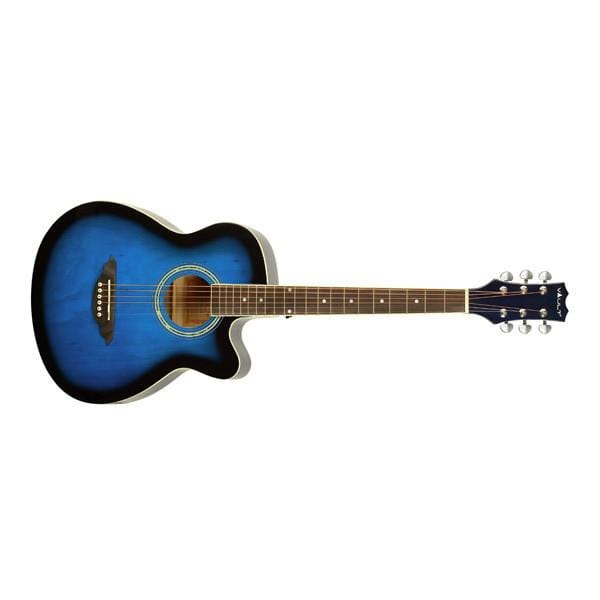 Vault EA10 40inch Medium Cutaway Acoustic Guitar- Blue Burst - Open Box
