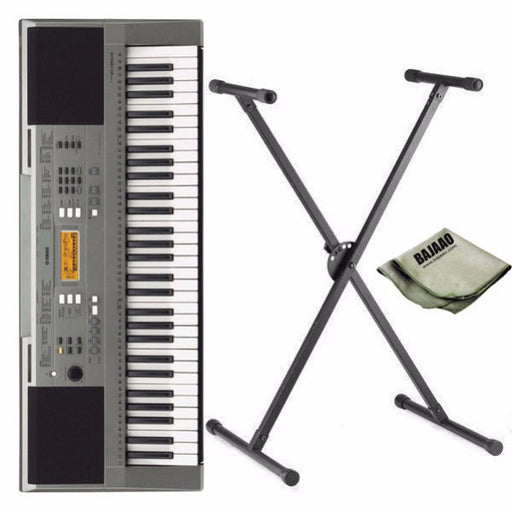 Yamaha PSR-E353 61-Key Touch Sensitive Keyboard with Stand and Polishing Cloth