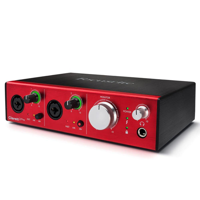 Focusrite Clarett 2Pre 10-In, 4-Out Thunderbolt Audio Interface-1