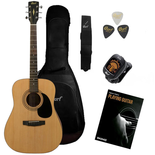 Cort AD810 Dreadnought Acoustic Guitar Pack with Free Learning E-Book