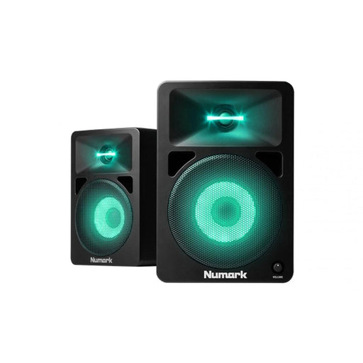 Numark N-Wave 580L Powered DJ Monitors with Pulsating Lights