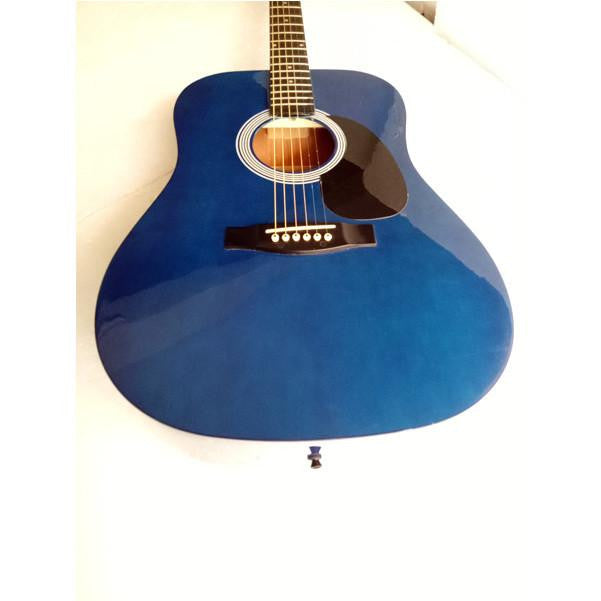 Stagg SW203 Acoustic Guitar - Trans Blue - Open Box