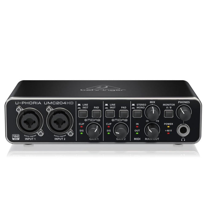 Behringer U-PHORIA UMC204HD 2X4 Audio Interface