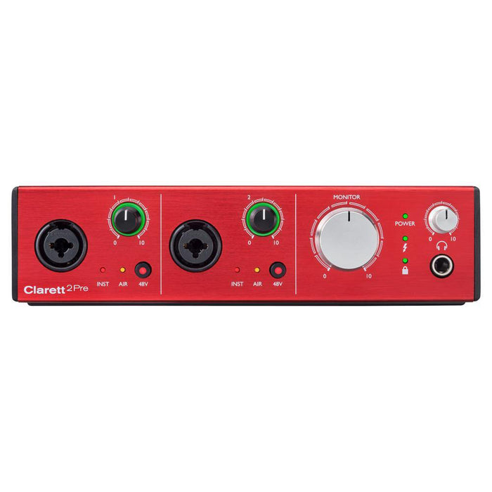 Focusrite Clarett 2Pre 10-In, 4-Out Thunderbolt Audio Interface-2