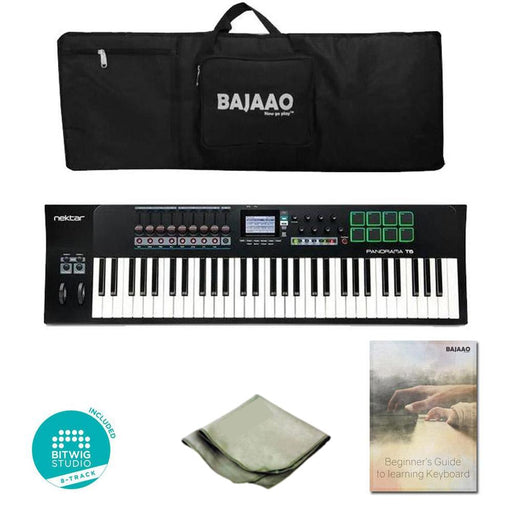 Nektar Panorama T6 61-Key Midi Keyboard Controller With Btwig Software, Cloth, Gigbag & Ebook