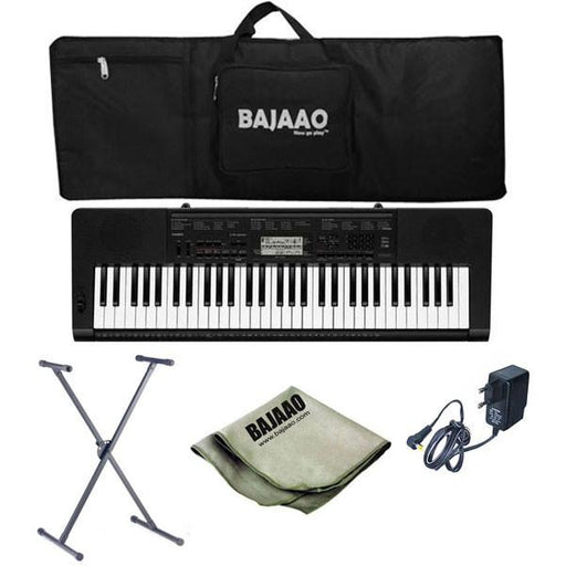 Casio CTK-3200 61-Key Portable Keyboard with with Stand, Gigbag, Polishing Cloth and Power Adapter