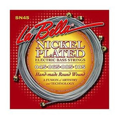 La Bella SN45 Bass Guitar Strings - Roundwound, Nickel