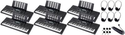 Startone MK-200 Portable Keyboards School Bundle with Power Strip, Adapters and Headphones