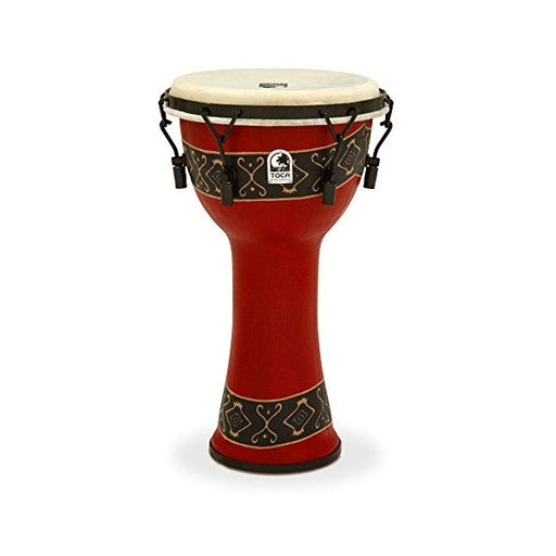 Toca Freestyle Mechanically Tuned 10-Inch Djembe - Bali Red Finish