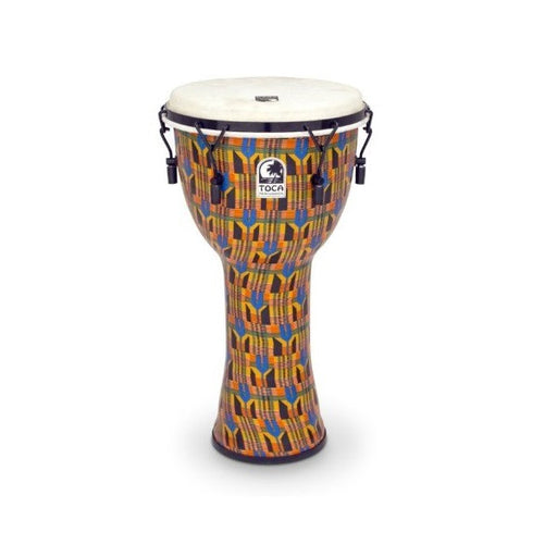 Toca Freestyle Mechanically Tuned 10-Inch Djembe - Kente Cloth