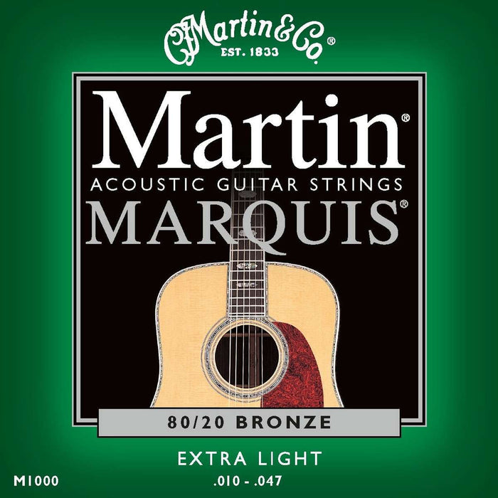 Martin 41M1000 Acoustic Guitar Strings - Marquis 80/20 Bronze