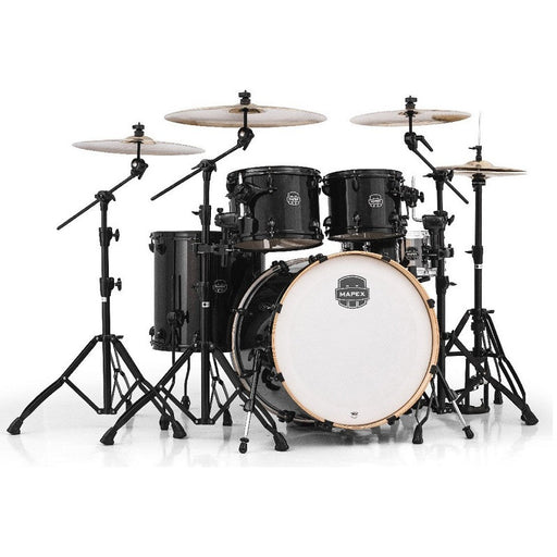 Mapex AR529SBTB Acoustic Drum Hybrid Set - 5-Piece Armory Series, Transparent Black