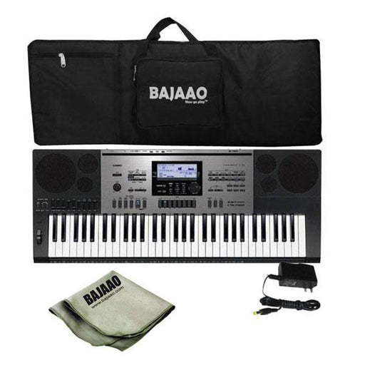 Casio CTK-7300IN Portable Keyboard with Keyboard Gig bag, Polishing Cloth And Power Adapter