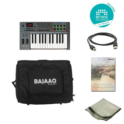 Nektar Impact LX25+ 25-key Midi Keyboard With Btwig Software, Polishing Cloth, Gigbag & Ebook