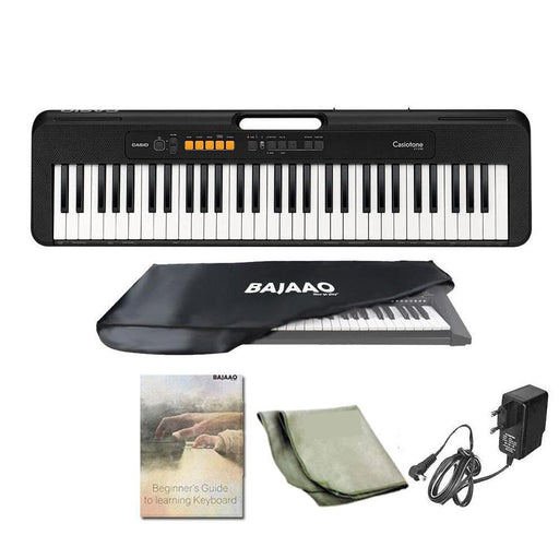 Casio Casiotone CT-S100 61 Key Portable Keyboard With Adapter, Polishing Cloth, Online Lessons, Dust Cover, Warranty & Ebook