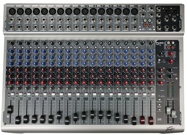 Peavey PV20 USB 20 Channel Mixing Console