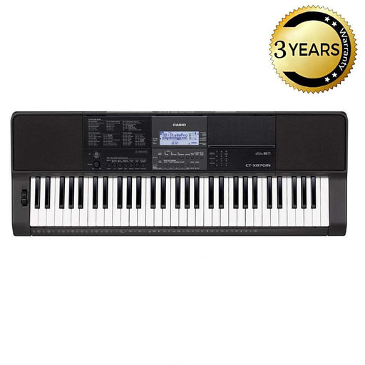 Casio CT-X870IN 61-Key Portable Keyboard With Adapter