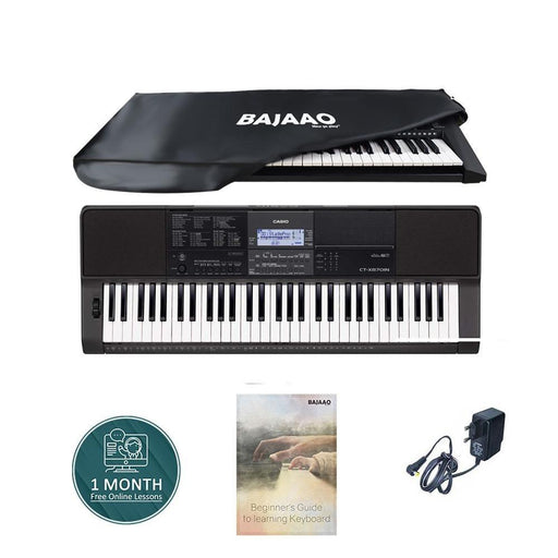 Casio CT-X870IN 61-Key Portable Keyboard With Power Adapter, Dust Cover, Online Lessons & Ebook