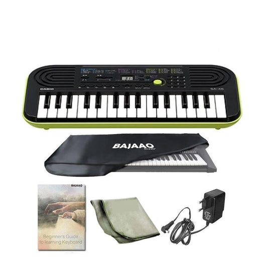 CASIO SA-46 Mini Portable Keyboard With Power Adapter, Polishing Cloth, Dust Cover, Warranty & Ebook