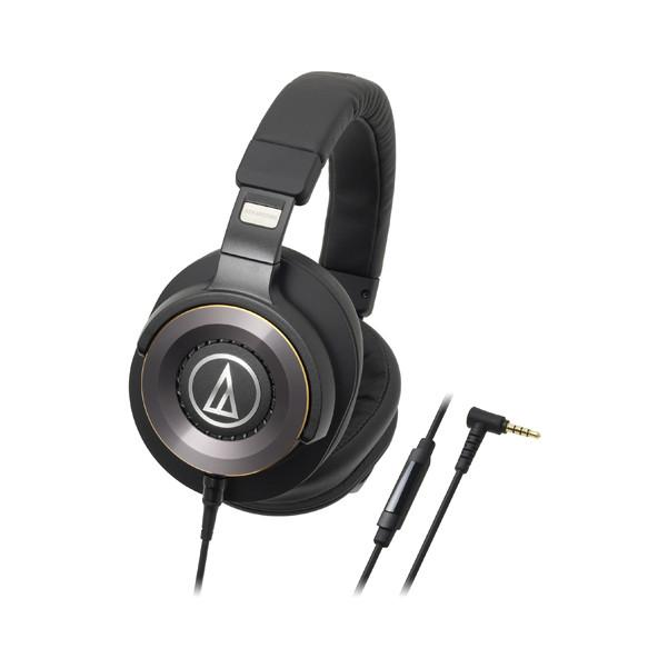 Audio Technica ATH-WS1100IS Solid Bass Over-Ear Headphones with Microphone - Black