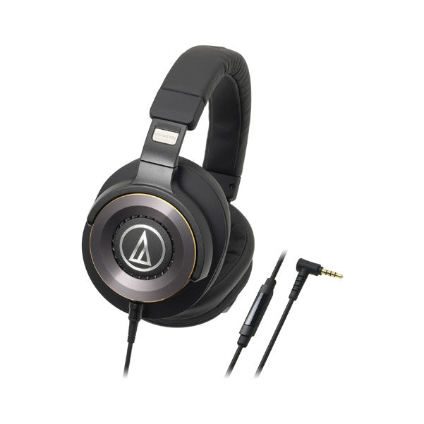Audio Technica ATH-WS1100IS Solid Bass Over-Ear Headphones with In-line Mic & Control - Black