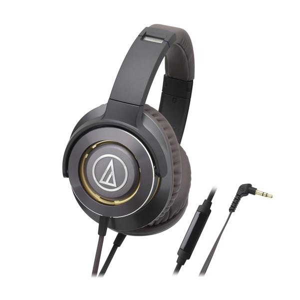 Audio Technica ATH-WS770IS Solid Bass Over-Ear Headphones with In-line Mic and Control