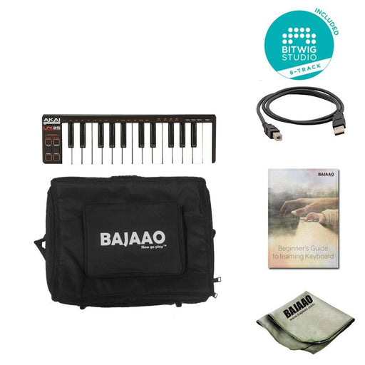 Akai Professional LPK25 Laptop Performance MIDI Keyboard With Btwig Software, Polishing Cloth, Gigbag & Ebook