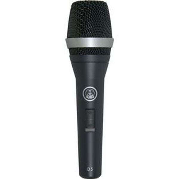 AKG D5S Supercardioid Dynamic Vocal Microphone with On/Off Switch